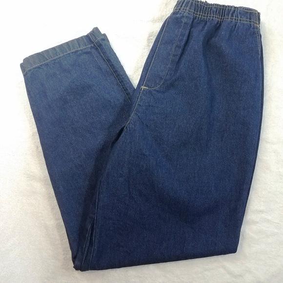 Cabin Creek Elastic Waist Denim Jeans Size 16
